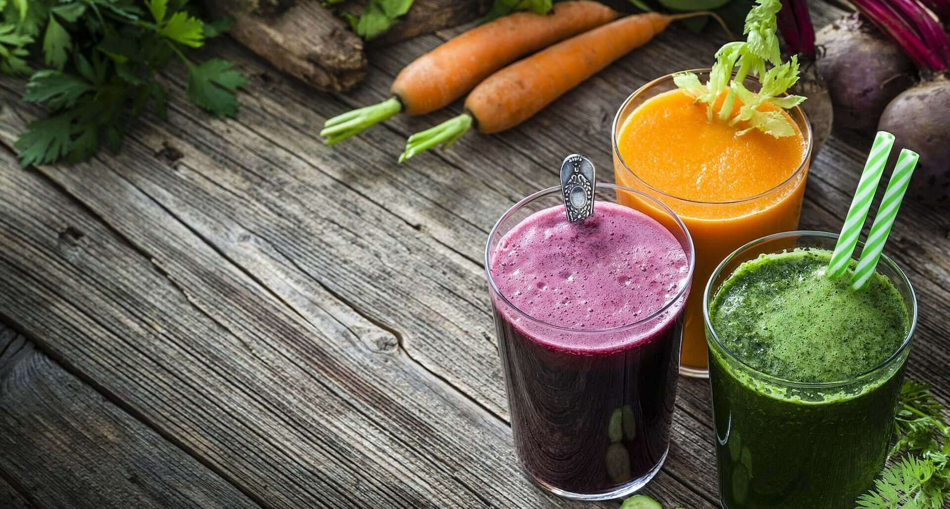 3 colorful juices for a 3 day juice cleanse
